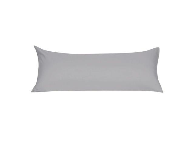 Soft Microfiber Body Pillow Cover With Zipper Closure Long Pillow Cases For Body Pillows 20 X60 Grey
