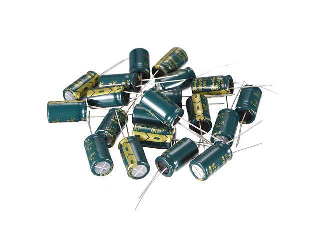 50PCS 25V 1000uF Radial Electrolytic Capacitor NEW