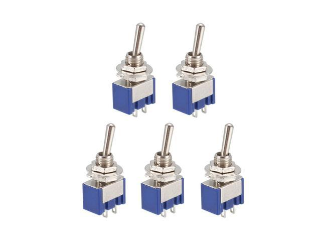 5 Pcs 125VAC 6A Amps On/off 2 Position Terminal SPDT Latching Mini Toggle  Switch Bule - Newegg com