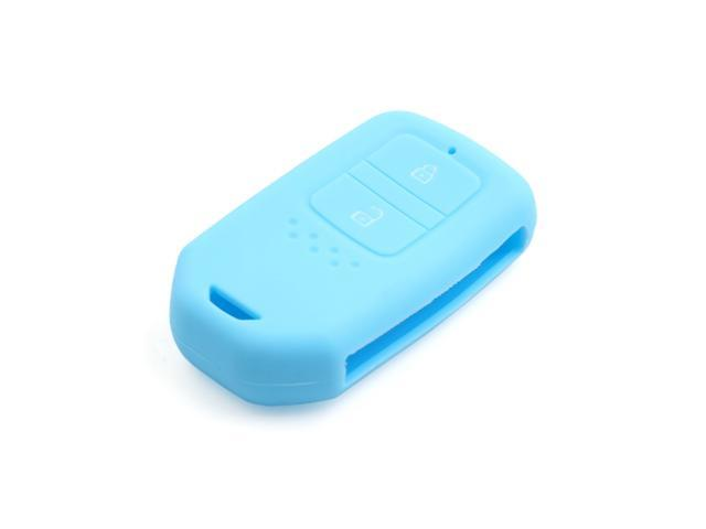 Sky Blue Silicone Remote Key Fob Case Skin Cover fit for Honda 2+1 Buttons