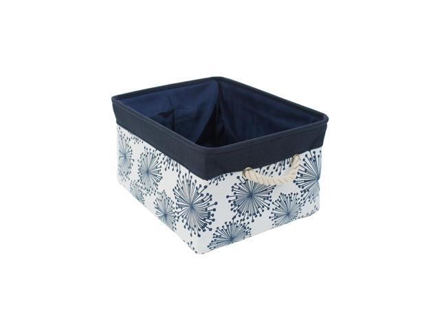 61d0fb45f08c Storage Basket Bin with Cotton Handles, Fabric Storage Bins with Drawstring  Closure for Clothes Towel Toys Organizer (Small - 12.2