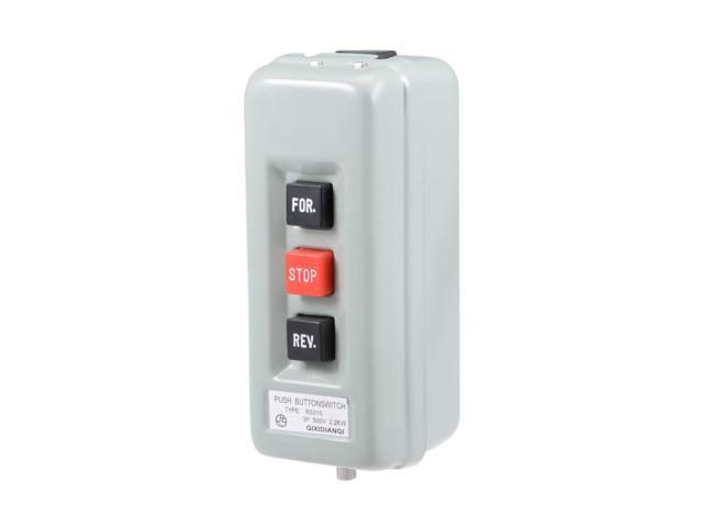 Self Locking Forward Stop Reverse Pushbutton Push Button Station 15A 2.2KW