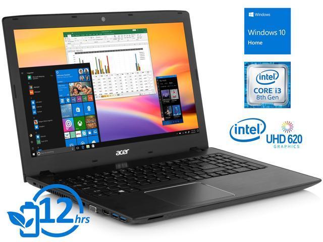 "Acer Aspire E 15 Notebook, 15.6"" FHD Display, Intel Core i3-8130U Upto 3.4GHz, 6GB RAM, 1TB HDD, DVDRW, HDMI, VGA, Wi-Fi, Bluetooth, Windows 10 Home"
