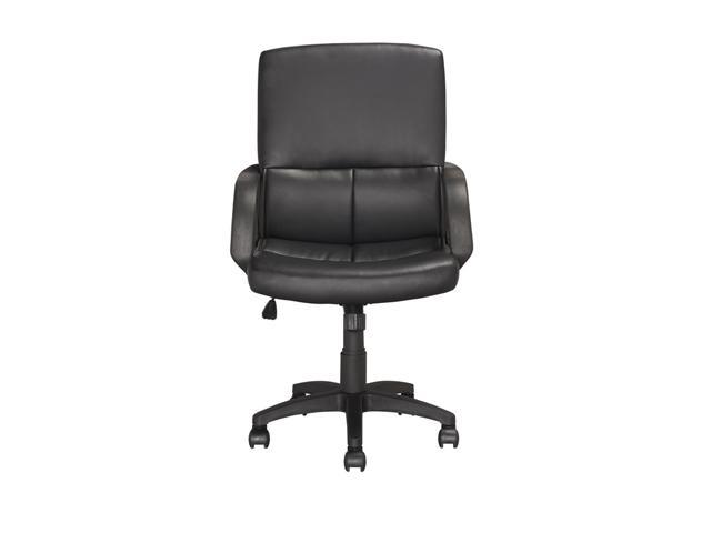CorLiving LOF-258-O Executive Office Chair in Black Leatherette and Red Mesh