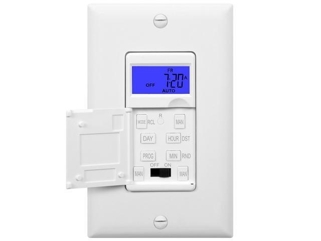 Enerlites 7 days digital in wall programmable timer switch for