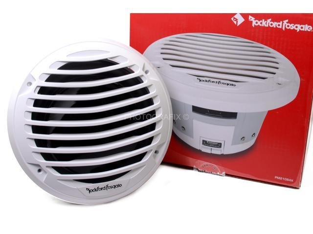 """Rockford Fosgate PM210S4X 10/"""" Punch Marine Subwoofer White w// Luxury Grille NEW"""