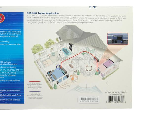 niles rca sm2 remote control anywhere kit w surface mount ir microsensor newegg com