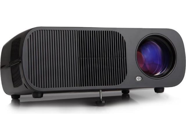 9bcf6e0236f128 iRULU BL20 LED Portable Video Projector Home Theater - Black (VGA, USB, AV,  HDMI)
