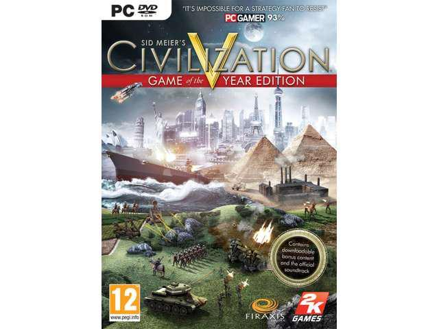 SID MEIER'S CIVILIZATION V 5 GAME OF THE YEAR EDITION for PC XP/VISTA/7 -  Newegg com