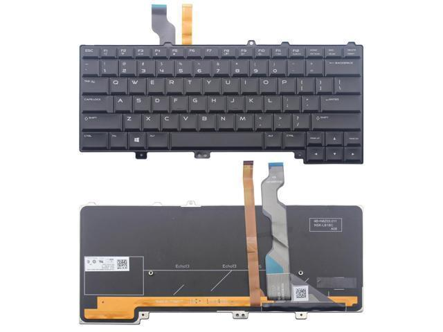 New Replacement for Dell Alienware 13 R1 13 R2 Alienware 15 R1 15 R2 US Backlit Keyboard Black