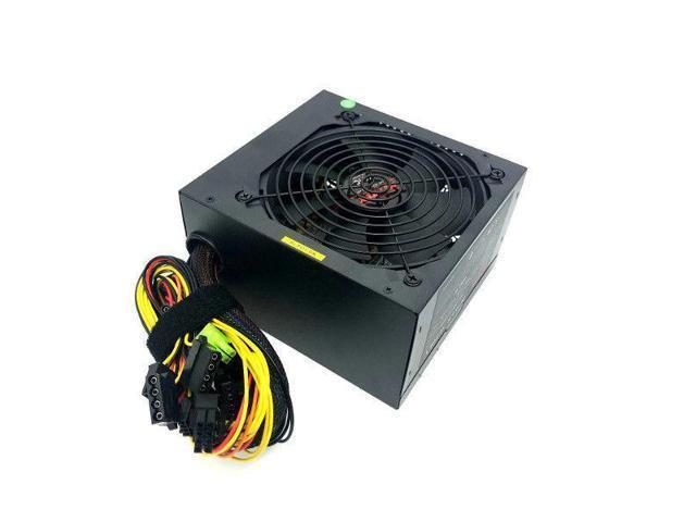 600W Large 12cm Fan Guard Grill Cooling Power Supply 20+4 Pin PCIe SATA ATX 12V