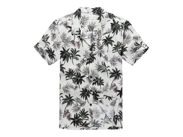 1b096f066e9 Hawaiian Shirt Aloha Shirt in Off White Palm Tree - Newegg.com