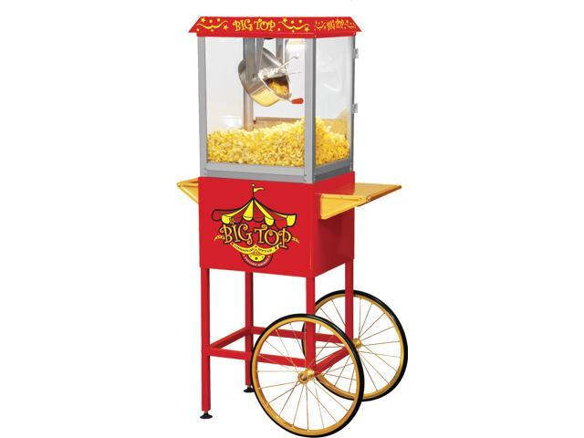 fb7bbe91f5 Big Top Carnival Style 8 OZ Classic Electric Popcorn Machine with Cart and  Bonus Accessories