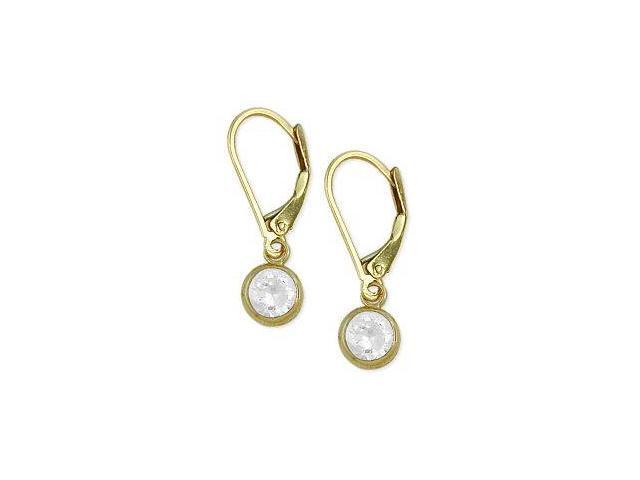 7d9702440884a 5mm Round 1.10tcw. Genuine White Topaz Leverback 14 karat Gold Earrings -  Newegg.com