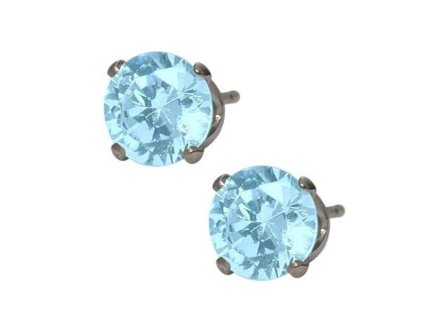 d0bbc7abb 6mm SWAROVSKI Elements Light Blue Crystal Stud Earrings ...