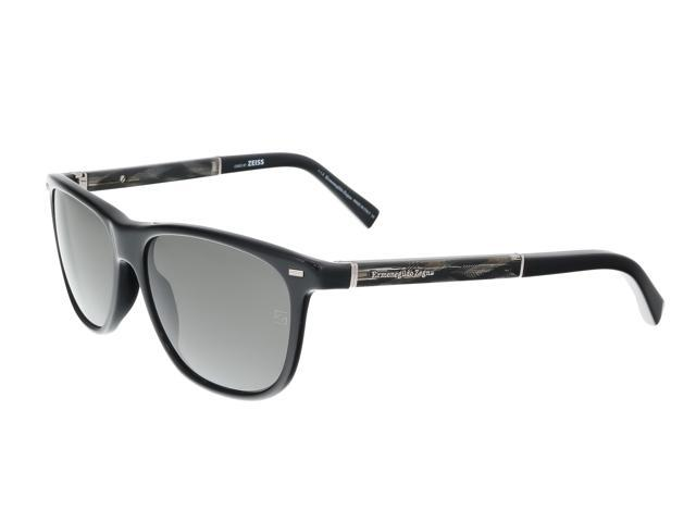 83eee4dce Ermenegildo Zegna EZ0009/S 01A Black Square Sunglasses ...