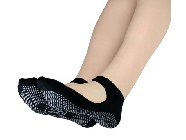Womens Yoga Socks Mary Jane Bella With Grips S M Non Slip Ankle Socks Black Newegg Com