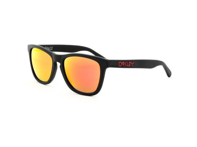 8e483066b71b ... cheapest oakley frogskins lx sunglasses oo2043 02 matte black frame ruby  iridium lens 69fcf 6806a