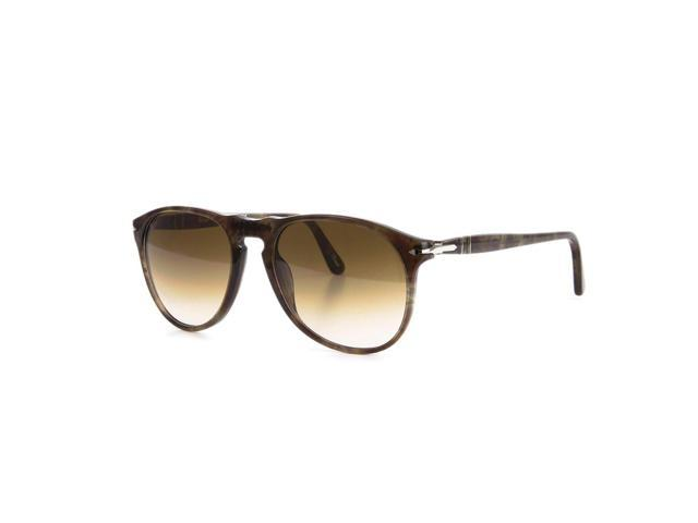 a455552fba Persol 9649 Aviator Sunglasses 972 51 Smokey Havana   Brown Gradient 52 mm