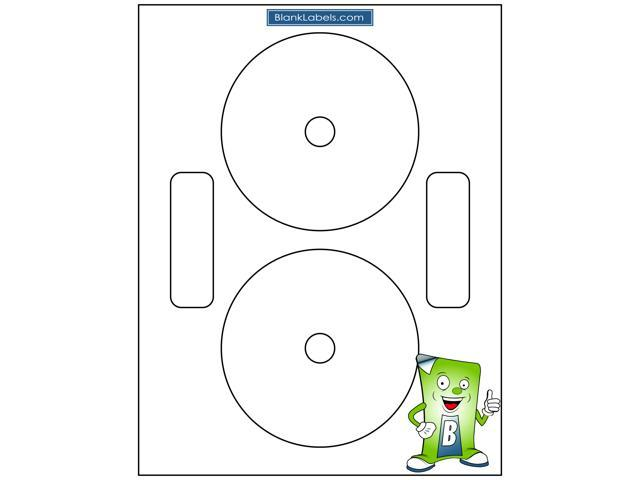 200 neato compatible full face cd dvd labels small center style