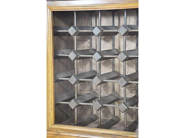 Wood Cabinet with Counter and Drawer Hold 20 Bottles Product SKU PierSurplus Wine Rack HD223524