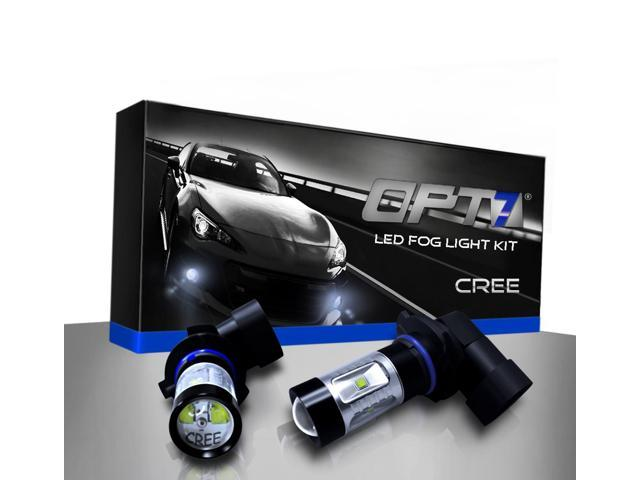 Opt7 H11 Cree Led Drl Fog Light Replacement Bulbs 10000k