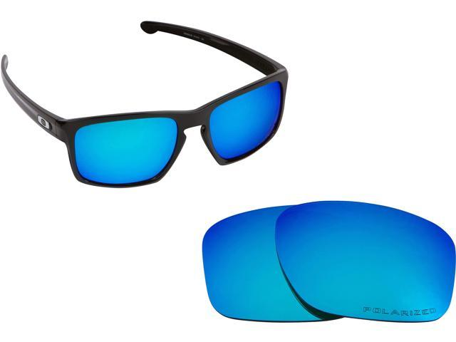 438659c5055 SLIVER Replacement Lenses Blue Mirror by SEEK fits OAKLEY Sunglasses