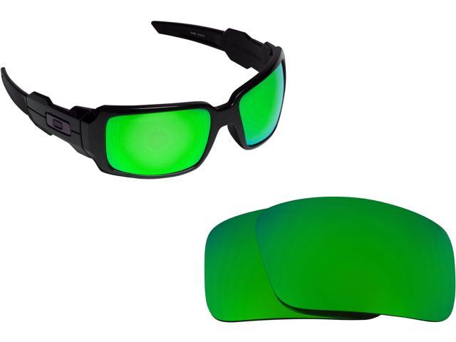 be9db88176b Best SEEK Polarized Replacement Lenses for Oakley OIL DRUM Green Mirror