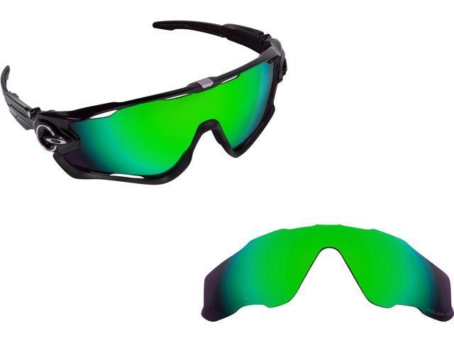 deb0b5c5e6d Best SEEK Polarized Replacement Lenses for Oakley JAWBREAKER Green Mirror