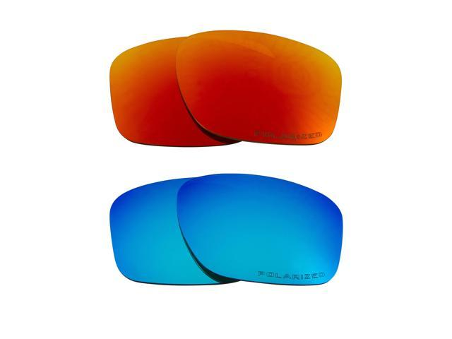 35f97a06e5 SLIVER Replacement Lenses Polarized Blue   Red by SEEK fits OAKLEY  Sunglasses