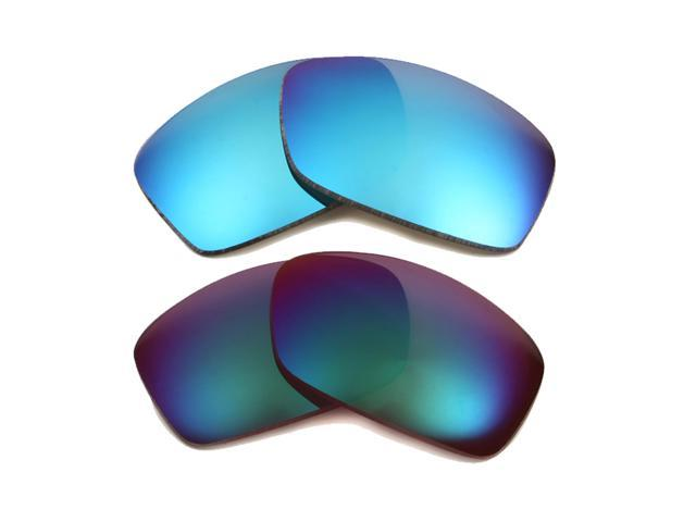 8d8c4b30c7e Best SEEK Polarized Replacement Lenses for Oakley FUEL CELL Blue Jade Green