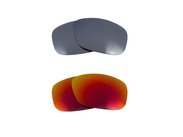 5ffe251a2e7cb Best SEEK Replacement Lenses Oakley Sunglasses GASCAN S Small Red Silver  Mirror