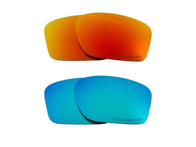 e5e8fc7291d7a9 CHAINLINK Replacement Lenses Polarized Blue   Red by SEEK fits OAKLEY  Sunglasses