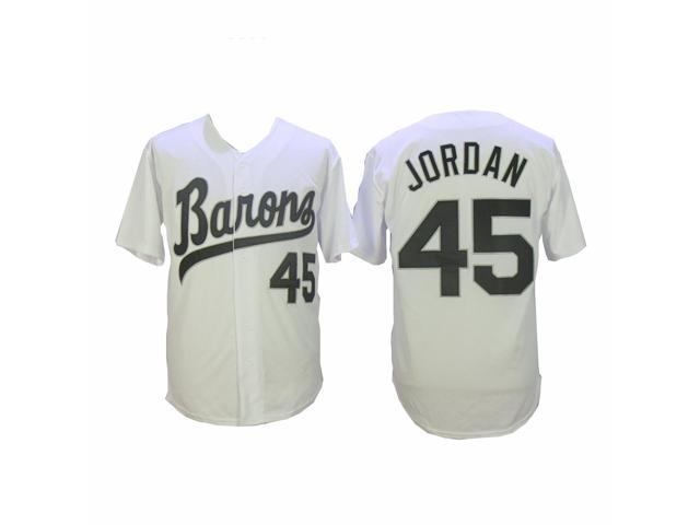 competitive price eacaa 85366 Michael Jordan 45 Barons White Baseball Jersey Birmingham Uniform Stitched  Gift - Mens Large - Newegg.com