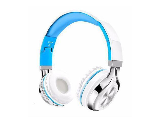 Dprui Newest Headphones Bluetooth Headset Foldable Sports Headphone Adjustable Earphones With Microphone For Pc Mobile Phone Mp3 White Blue Newegg Com