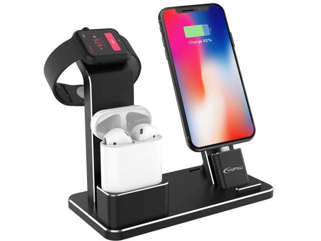 best service 517f0 8d9cc YoFeW Charging Stand for Apple Watch Aluminum Watch Charging Stand Dock  Holder Compatible for iWatch Apple Watch Series 4/3 / 2/1/ AirPods/iPhone  ...