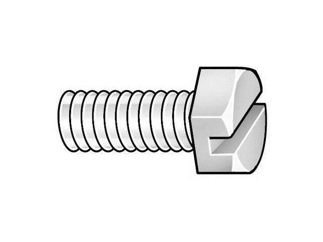 Hex Head Cap Screws Coarse 10 pk. 5//16-18 x 2-1//2 Nylon UNC