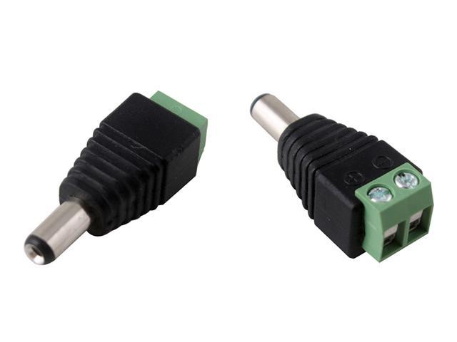 5.5mm x 2.1mm 2.1 DC Male CCTV LED DC Power Plug Adapter connector Camera