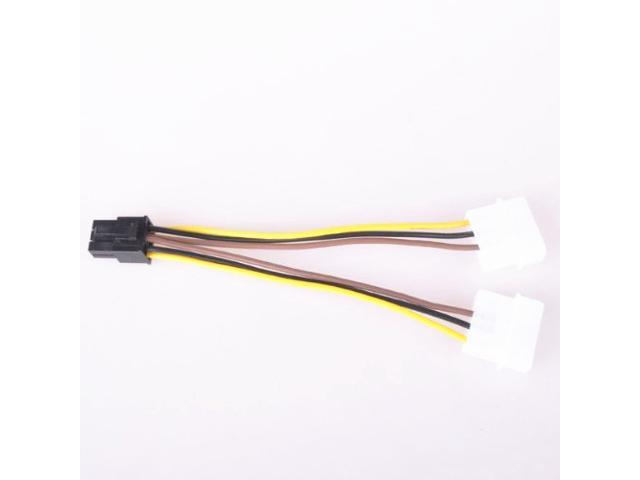 1Pc 4pin ide to 5 15pin sata splitter hard drive power cable cord 18AWG  RF