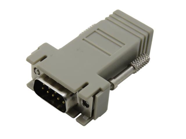 RJ45 female to DB9 RS232 Male com port Modular converter adapter, RS232 DB9 9Pin Female
