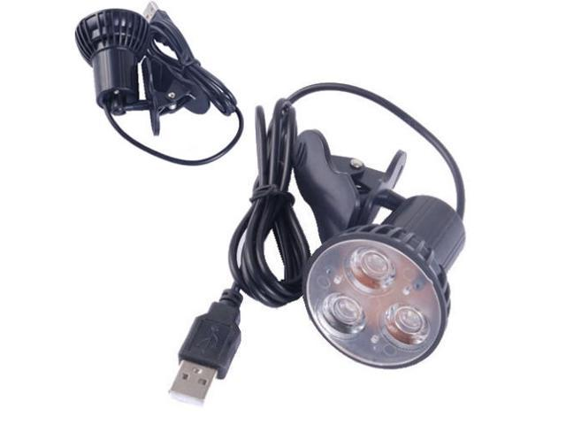 Flexible Super Bright 3 Led Clip On Spot Usb Light Lamp For Laptop Pc Notebook Newegg Com