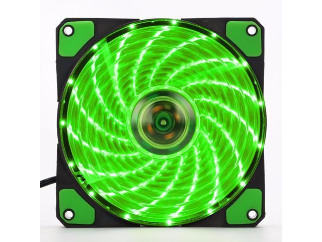 120mm LED Ultra Silent Computer PC Case Fan 15 LEDs 12V Easy Installed HI