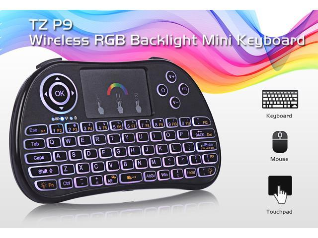 Mini Wireless 2 4GHz Keyboard Air Mouse with RGB Backlit Remote Control  Touchpad For Android TV Box Google Smart TV - Newegg com