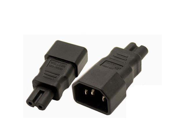 IEC 320 Travel Adapter 3 Pin Male to 2 Pin Female Converter C5 to C8 Connector