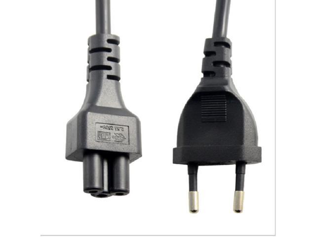 Power Adapter Cord EU 2 Pin Male To IEC 320 C5 Micky For Notebook Supply 30cm