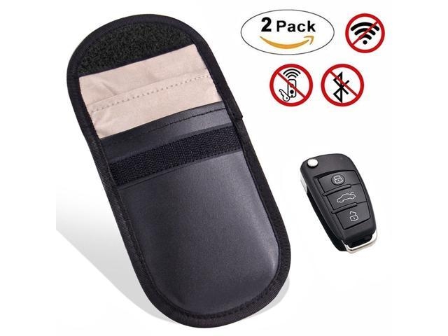 5a5bad6ec (2 Pack)Faraday Bag RFID Key Fob Protector, RF Signal Shielding Pouch Bag  for Car Key FOB, Key Fob holder – RFID Signal Blocking Bag – Protect  against ...