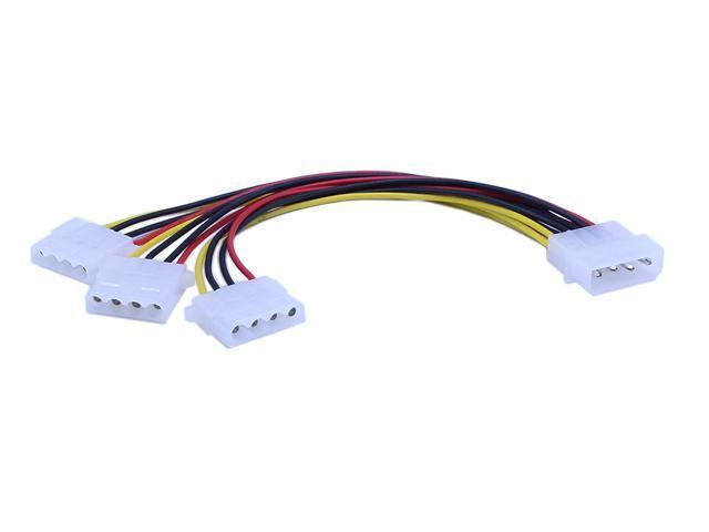 """8/"""" 4-Pin IDE Internal Power Molex Y-Splitter Cable"""