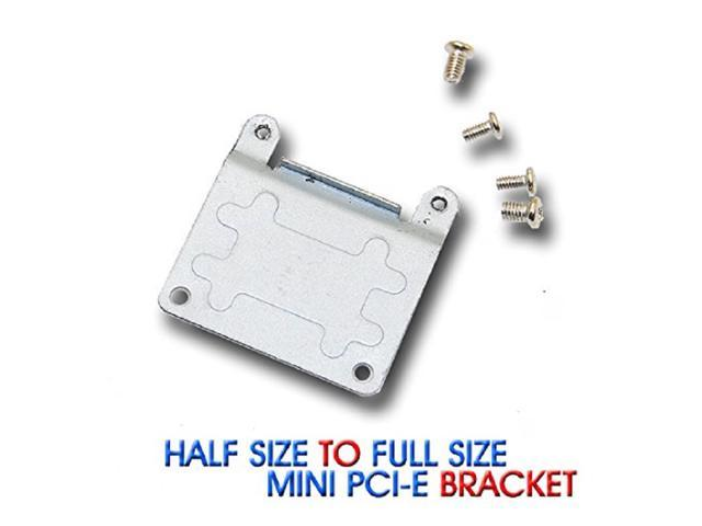 Half Size to Full Size Bracket Extension Adapter Card Wireless WiFi PCI Express Mini Pcie Adapter Mounting Bracket Screws