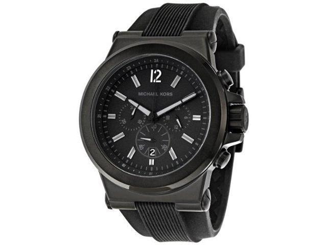 31dc53e68459 Michael Kors MK8152 Dylan Black Silicone Strap Men s Watch - Newegg.com