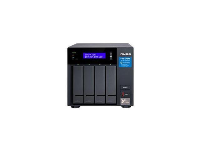 Qnap TVS-472XT-PT-4G-US Ultra High Speed 4 Bay Thunderbolt 3 Port Diskless  High-Performance NAS - Newegg com